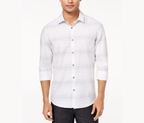Men's Stripe Cotton Shirt, White