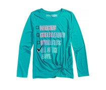 Ideology Girl's Checklist-Print T-Shirt, Blue