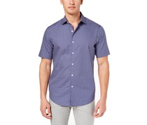 Tasso Elba Mens Shirt, Blue Combo