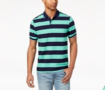 Club Room Men's Striped Polo Catalina Shirt, Green/Navy