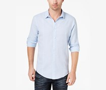INC International Concepts Mens Seamed Shirt, Light Blue
