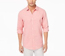 Inc International Concepts Men's Linen Shirt, Coral