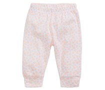 First Impressions Heart-Print Ruched Cotton Jogger Sleepwear, Paradise Pink