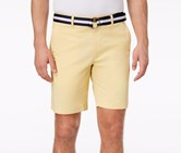Club Room Mens Classic-Fit Stretch Shorts, Tortilla