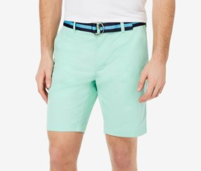 Club Room Men's Belted Classic-Fit Stretch Shorts, Garden Mint