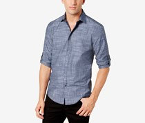 Alfani Men's Parktron Stripe Shirt, Dress Blues