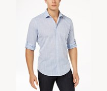 Alfani Mens Parktron Stripe Shirt, Elevate