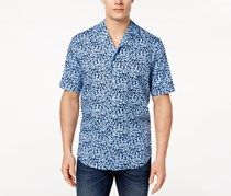 Club Room Men's Floral-Print Shirt, Navy Blue