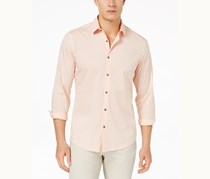 Alfani Men's Stretch Modern Stripe Shirt, Peachy Keen