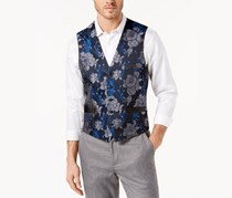INC Men's Slim-Fit Brocade Vest, Navy Combo