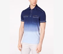 International Concepts Mens Ombre Polo, Basic Navy