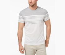 Alfani Men's Engineered Stripe T-Shirt, Bright White