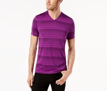 Alfani Men's Striped T-Shirt, Vintage Plum