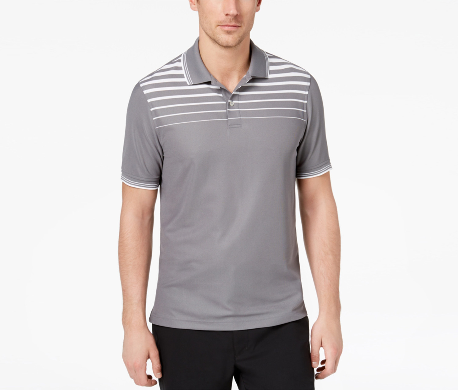 Club Rom Men's Ombre Stripe Polo, Shark Combo