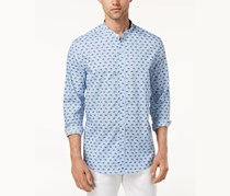 Tasso Elba Men's Printed Shirt, Blue Combo