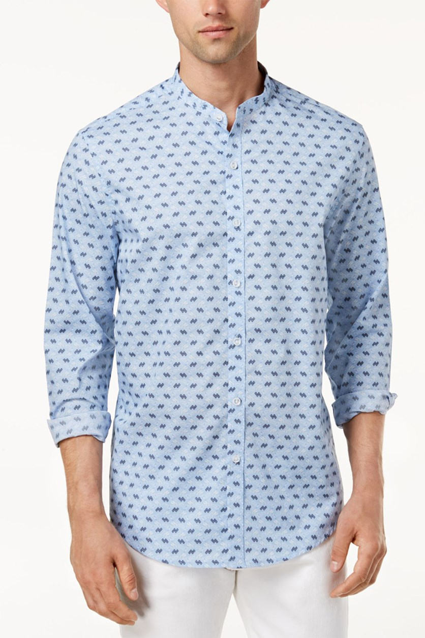 Men's Printed Shirt, Blue Combo
