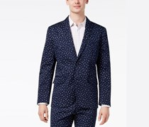 International Concepts Mens Woven Wheat Blazer, Basic Navy