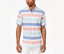 Club Room Men's Wide Striped Shirt, Turquoise Combo