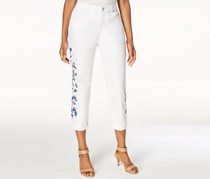 Style & Co. Women's  Embroidered Boyfriend Jeans, Bright White