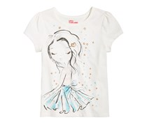 Epic Threads Printed T-Shirt, Holiday Ivory