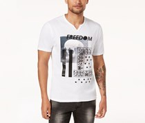 Men's Graphic-Print T-Shirt, White Pure