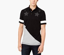 Inc International Concepts Men's Spangled Polo, Deep Black