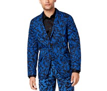 International Concepts Mens Slim-Fit Leaf-Print Blazer, Navy Combo