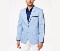 INC Men's Slim-Fit Taped Blazer, Blue Combo