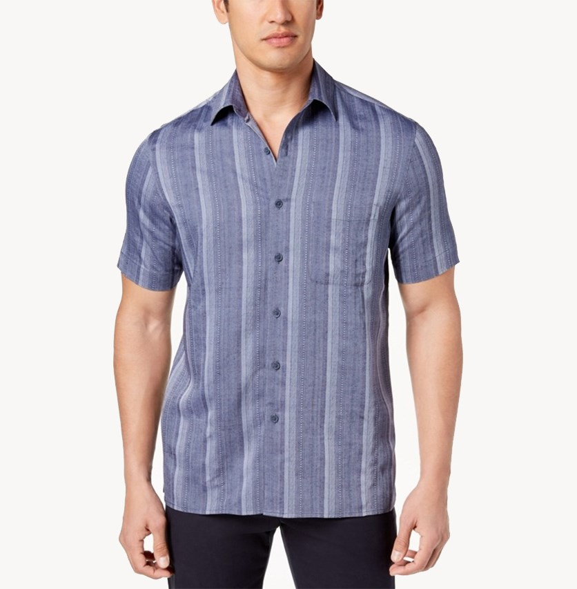 Men's Casmara Dobby Shirt, Blue Combo