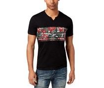 INC Men's Graphic-Print T-Shirt, Deep Black