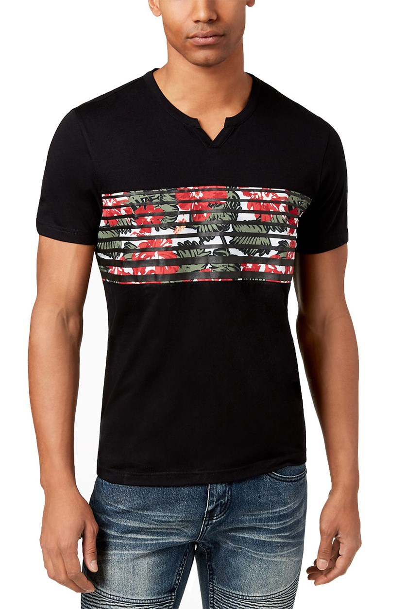 Men's Graphic-Print T-Shirt, Deep Black