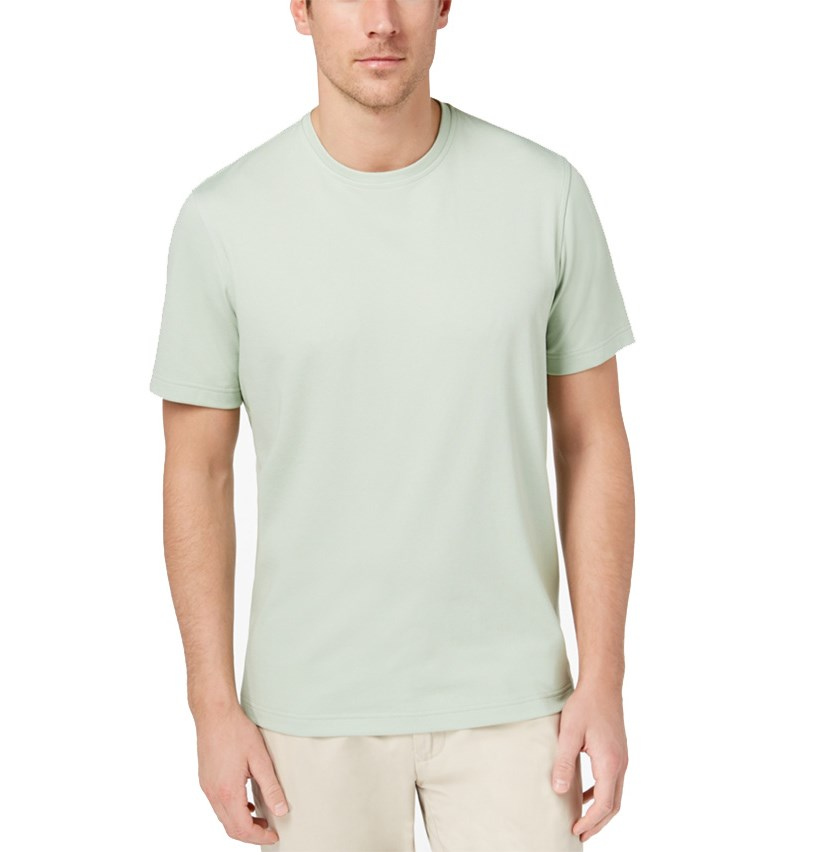 Men's Knit T-Shirt, Smoke Green