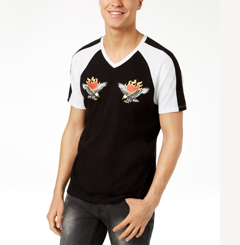 I.n.c. Men's Fire Eagle T-Shirt, Deep Black