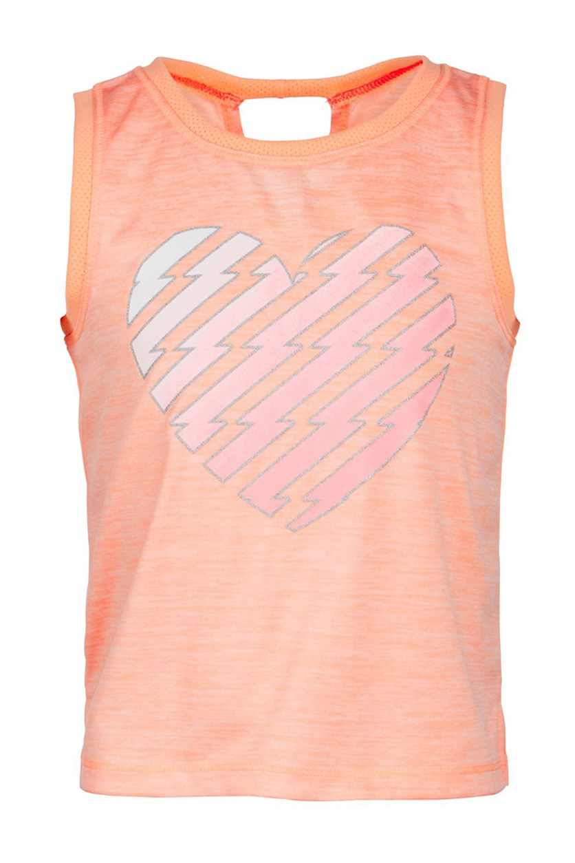 Heart-Print Tank, Juicy Melon