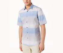 Alfani Mens Nick Ombre Shirt, Hyper Blue