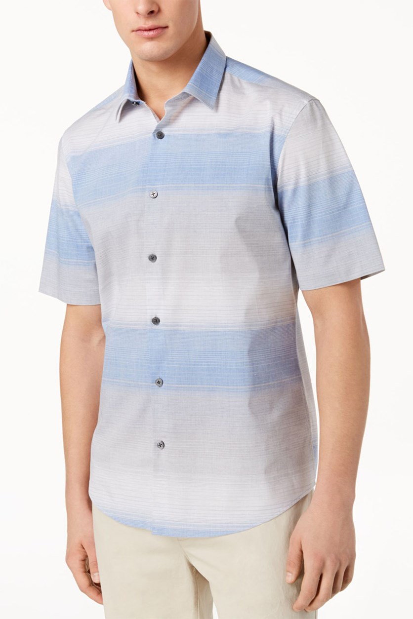 Mens Nick Ombre Shirt, Hyper Blue