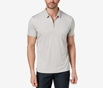Alfani Men's Quarter Zip Polo, Raw Pebble