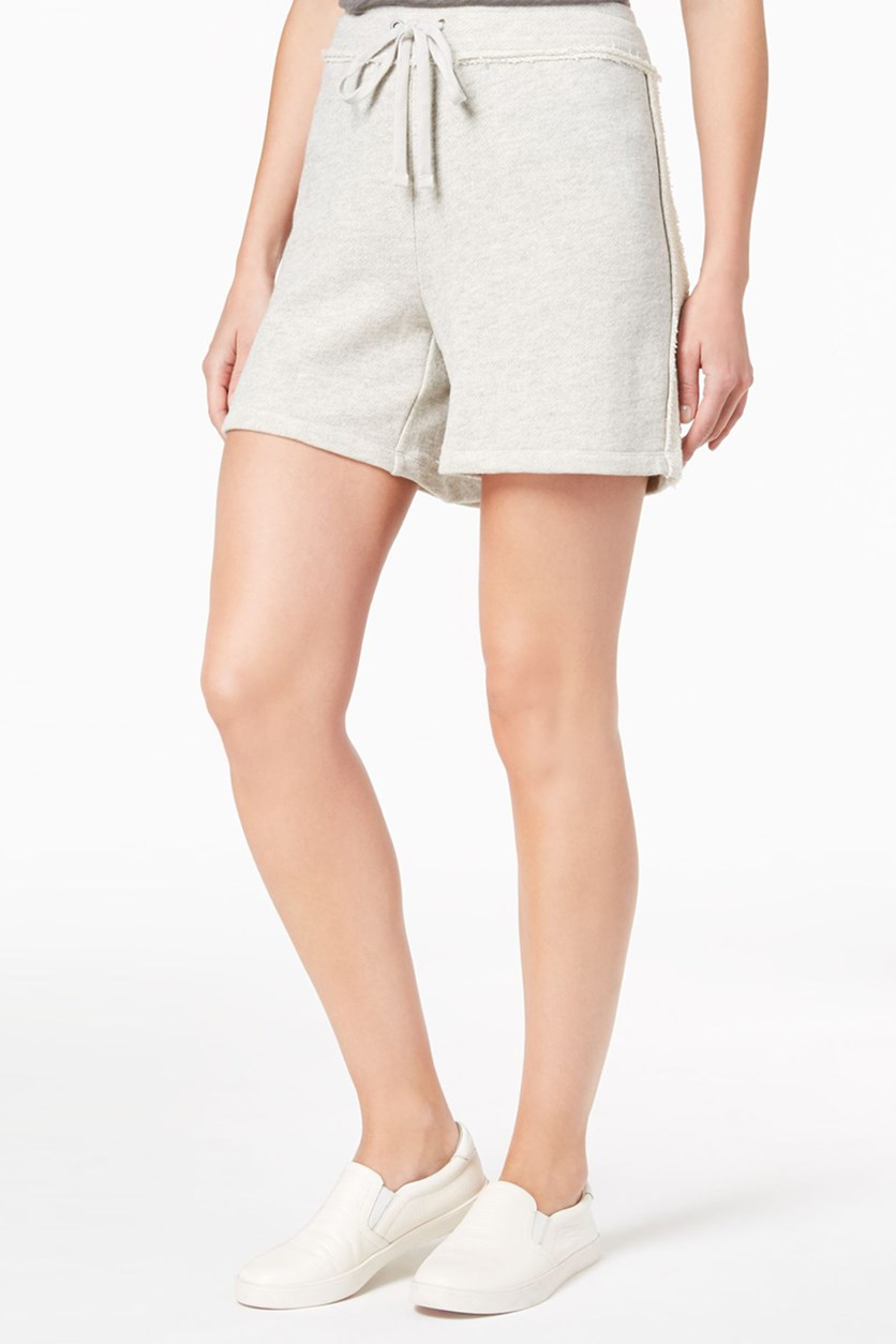 . Women's  Drawstring Shorts, Light Grey Heather