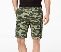 Club Room Men's Classic-Fit Camouflage Cargo Shorts, Dark Pine Combo