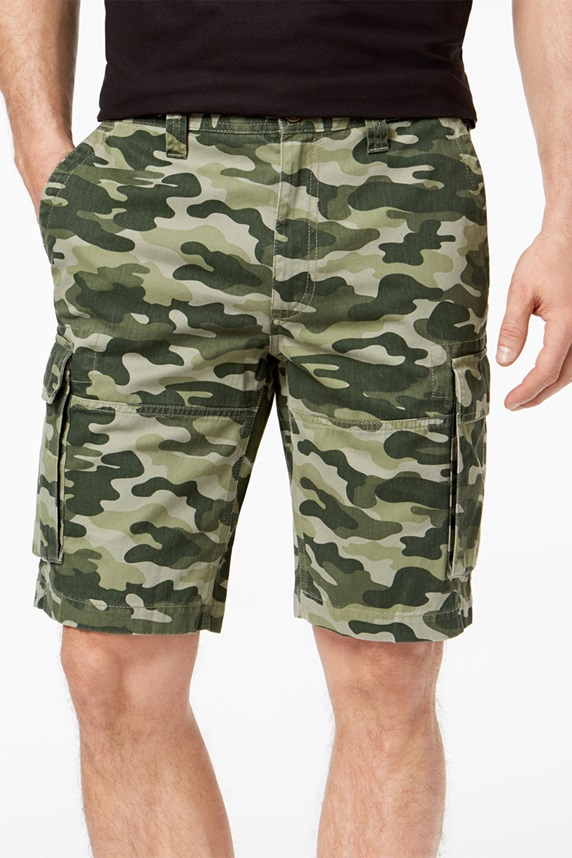 e82b07d011 Club Room Men's Classic-Fit Camouflage Cargo Shorts, Dark Pine Combo