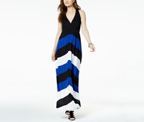INC International Concepts Chevron Racerback Dress, Black Combo