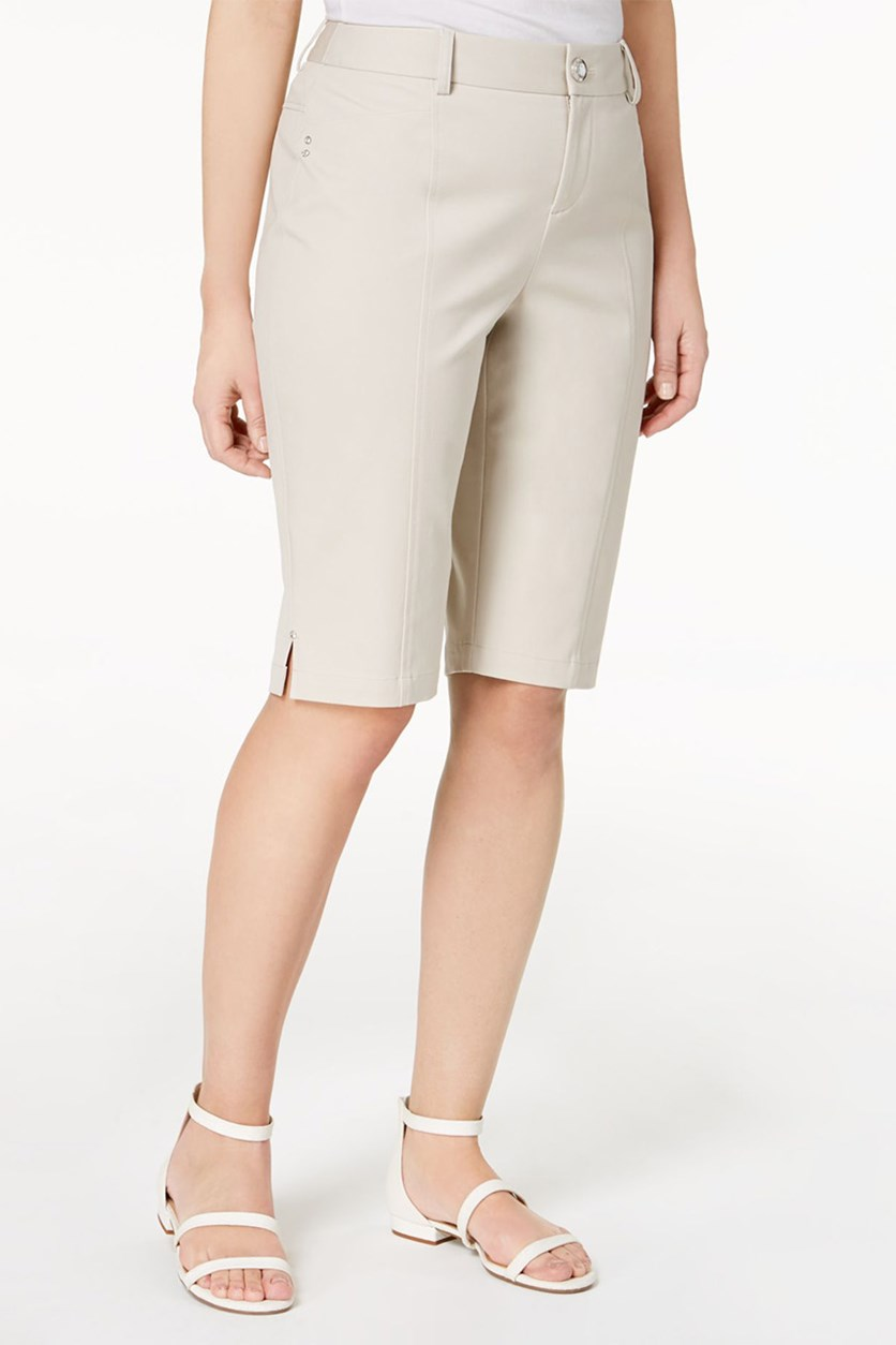 Curvy-Fit Bermuda Walker Short, Toad Beige