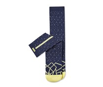 Pair of Thieves Mens Lunar Module Socks, Navy/Yellow