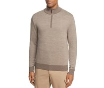 Brooks Brothers Men's Contrast Quarter-Zip Sweater, Taupe