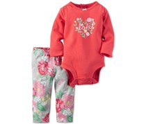 Carters Baby Girl's 2-Pc. Set, Coral