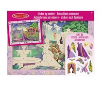 Melissa & Doug Peel and Press Sticker by Number Activity Kit: Fairytale Princess