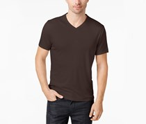 Alfani Mens Travel Stretch T-Shirt, Valhrona/Dark Brown