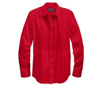 American Rag Men's Long-Sleeve White Shirt, Red