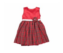 Little Me Toddler's Plaid Dress, Red