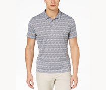 Alfani Men's Angled Glitch Polo, Active Steel